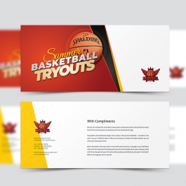 Basketball Tryouts Compliment Card Template