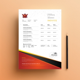 Basketball Tryouts Invoice Template