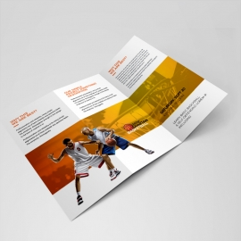 Basketball Tryouts Trifold Brochure Template