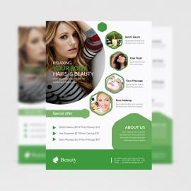 Beauty Salon Flyer Fully Green