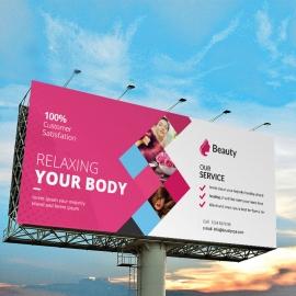 Beauty & Spa Billboard Banner Sinage