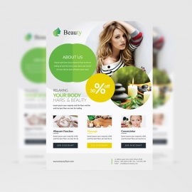 Beauty Spa Flyer Green Circle