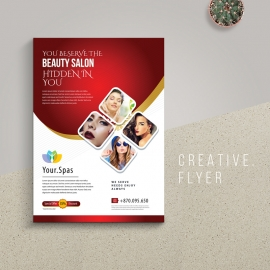 Beauty Spa Flyer With Red Accent