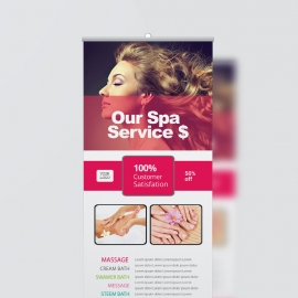 Beauty Spa Roll-Up Banner