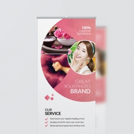 Beauty & Spa Rollup Banner