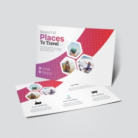 Best Travel Tourism PostCard 2020 With Hexagon