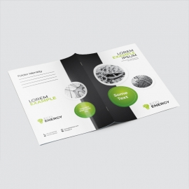 Black Accent Business Presentation Folder With Cricle