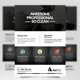 Black Accent Corporate Business Flyer