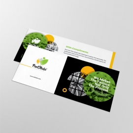 Black And Green Accent Compliment Card With Cricle