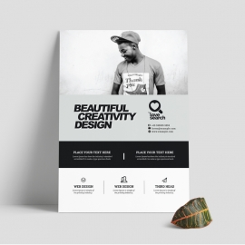 Black And White Business Flyer