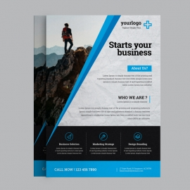 Black Blue Business Flyer