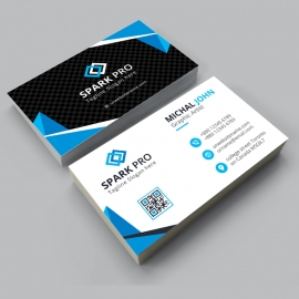 Black & Blue Corporate Business Card