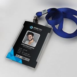 Black Blue Office Identity Card