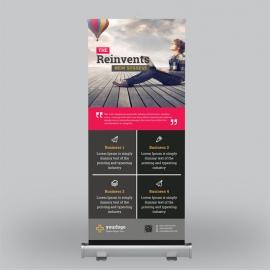 Black Business Roll-Up Banner Design