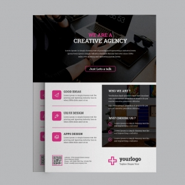 Black Corporate Business Flyer