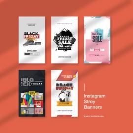 Black Friday Big Offer Sale Instagram Story Banners