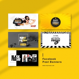 Black Friday Big Offer Social Media Facebook Posting Cover Kit