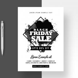 Black Friday Big Sale Black And White Flyer