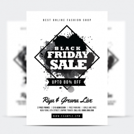 Black Friday Big Sale Black & White Flyer