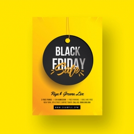 Black Friday Big Sale Flyer With Yellow Accent