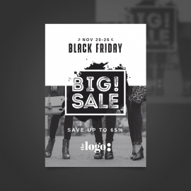 Black Friday Black & White Flyer