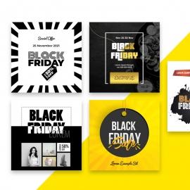 Black Friday Discount Sale Social Media Instagram Booster Kit