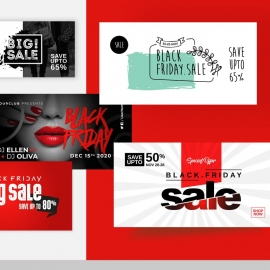 Black Friday Facebook Posting Cover Kit Layout
