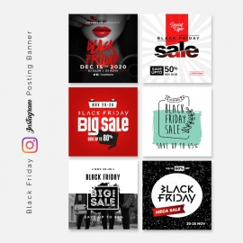 Black Friday Instagram Posting Banners