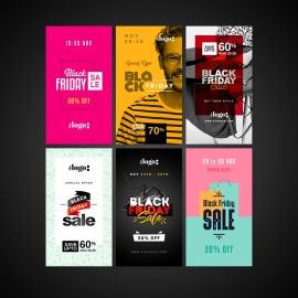 Black Friday Instagram Story Banners