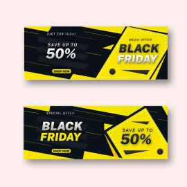 Black Friday Mega Offer Facebook Cover Design