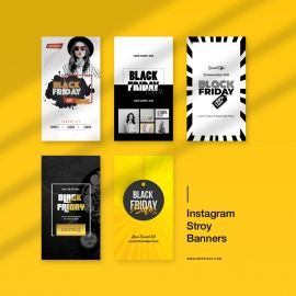 Black Friday Offer Sale Promotion Instagram Stroy Banners