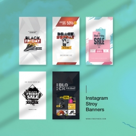 Black Friday Offer Sale Promotion Instagram Stroy Banners