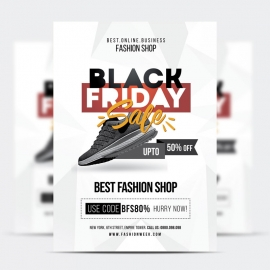 Black Friday Product Promotion Sale Flyer