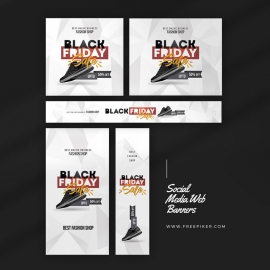 Black Friday Product Sale Web Banner Layout