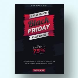 Black Friday Royalty-Free Promotional Sale Flyer Design Template