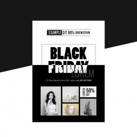 Black Friday Sale Black And White Flyer