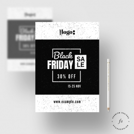Black Friday Sale Black & White Flyer