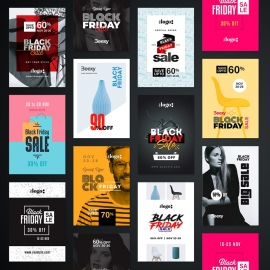 Black Friday Sale Flyer & poster Bundle