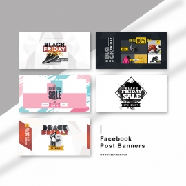 Black Friday Sale Social Media Facebook Posting Kit Banners