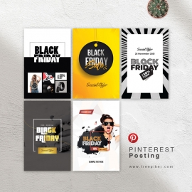Black Friday Sale Social Media Pinterest Posting Banners