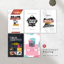Black Friday Social Media Pinterest Posting Banners