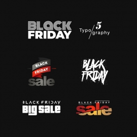 Black Friday Typography Vector