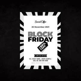 Black Frriday Big Offer Black & White Flyer