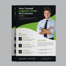 Black & Green Business Flyer