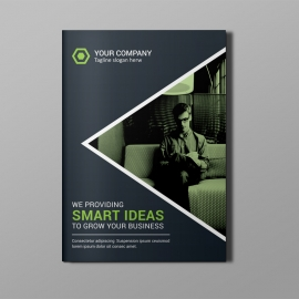 Black Green Corporate Bi-Fold Brochure