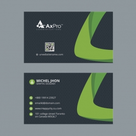 Black Green Corporate Business Card