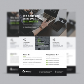 Black Green Corporate Business Flyer