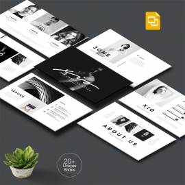 Black Minimal Google Slide Template