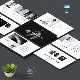 Black Minimal Keynote Template