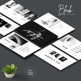 Black Minimal Powerpoint Template